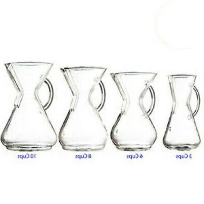 new borosilicate glass handle series pour over