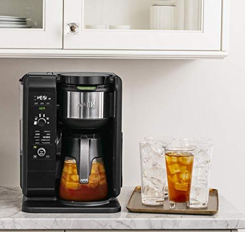 Ninja Hot Brewed System, Auto-iQ and 6 Sizes, 5 Brew & Tea Glass