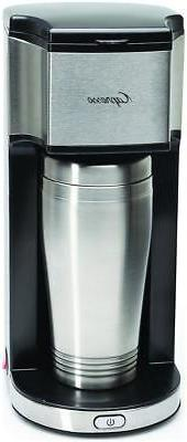 Capresso On the Go Single Cup Coffee Maker - Stainless 16 Oz