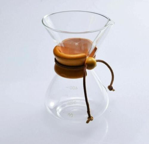 pour over coffee maker style glass 400ml