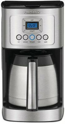 Programmable Coffee Maker 12-Cup Thermal Carafe Charcoal Wat