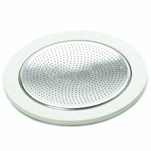 Bialetti Replacement Gaskets and Filter For 9 Cup Stovetop E