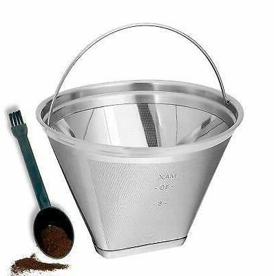 Reusable #4 Cone Permanent Coffee Filter Fit for Hamilton Be