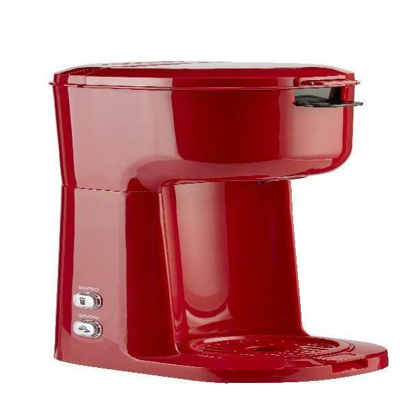 Mainstays Single Serve And K-Cup Brew Coffee Maker, Red