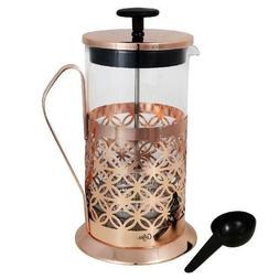 Mr. Coffee 32 oz Coffee Press With Scoop in Rose Gold