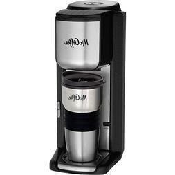 Mr. Coffee Single Cup Coffeemaker with Built-in Grinder, wit