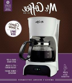 Mr. Coffee Switch 4-Cup capacity Coffee Maker, White
