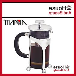 NEW Avanti Cafe Press Glass Coffee Plunger 1 Ltr / 8 Cup!