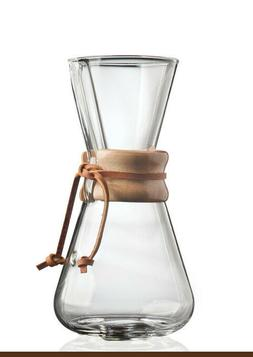 NEW In-Box Chemex Classic Series Coffeemaker 3 Cup Pour Over