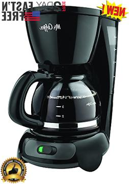 NEW Mr. Coffee 4-Cup Switch Coffee Maker Machine with Gold T
