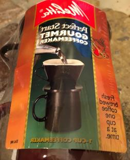 NEW Melitta Perfect Start Coffee Maker One Cup Filter Cone S