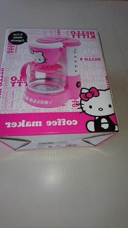 New Pink HELLO KITTY 5-CUP COFFEE MAKER