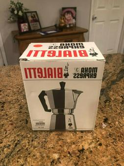 NEW The Original Bialetti Moka Express - 3 Cup Stovetop Coff