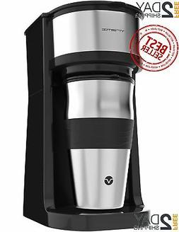 Personal 1 Cup Pod Brewer Coffee Maker Single Serve Travel M