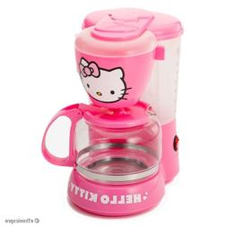 PINK HELLO KITTY 550W 5-CUP COFFEE MAKER with AUTO DRIP/AUTO
