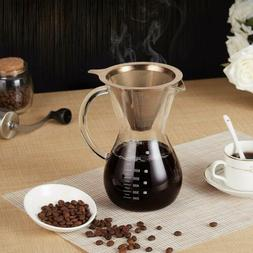 Pour Over Coffee Maker,14 oz Hand Manual Coffee Dripper-Toug