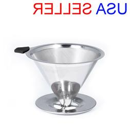 KAIZEN Pour Over Coffee Maker Stainless Steel Reusable Drip