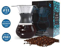 SparkPod Pour Over Coffee Maker w/Stainless Steel Paperless