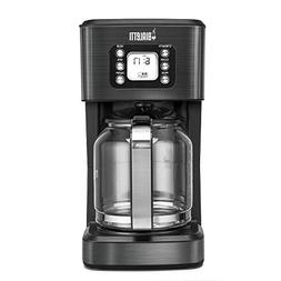 Bialetti  14-Cup Glass Carafe Coffee Maker, Black Stainless
