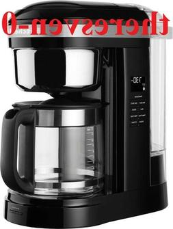 KitchenAid R-KCM1204OB 12-Cup Coffee Maker with One Touch Br