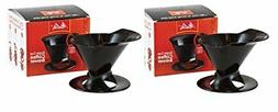 Melitta Ready Set Joe Single Cup Coffee Brewer, Black - 2 Pa