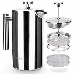 Secura French Press Coffee Maker 304 Grade Stainless Steel I