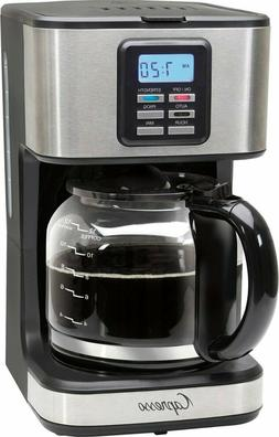 Capresso - SG220 12-Cup Coffee Maker - Black/stainless steel