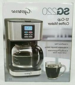 Capresso SG220 12-Cup Coffee Maker Stainless Steel New
