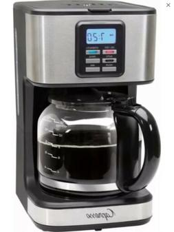 Capresso SG220 12-Cup Glass Carafe Stainless Steel Coffee Ma