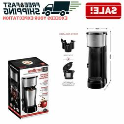 Single Cup Coffee Brewer for KCup Pods Loose Leaf Tea Compac
