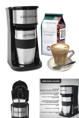 Single Cup Coffee Maker Machine Travel Mug Combo Portable Es