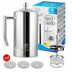 Stainless Steel French Press Coffee Maker – French Press 8