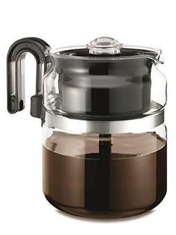 8 Cup Stove Coffeemaker Coffee Pot Container Server Holder P