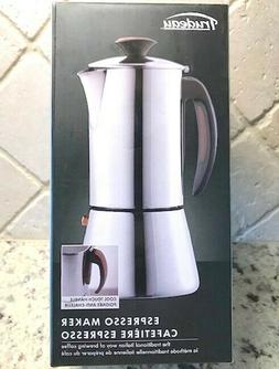 Trudeau Stovetop Espresso Coffee Maker Stainless Steel 16 oz