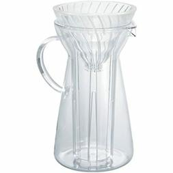 V60 Glass Pour Over Hot And Iced Coffee Maker, 700ml Kitchen