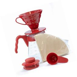 Hario V60 Pour Over Starter Set with Coffee Dripper, Pot, Sc